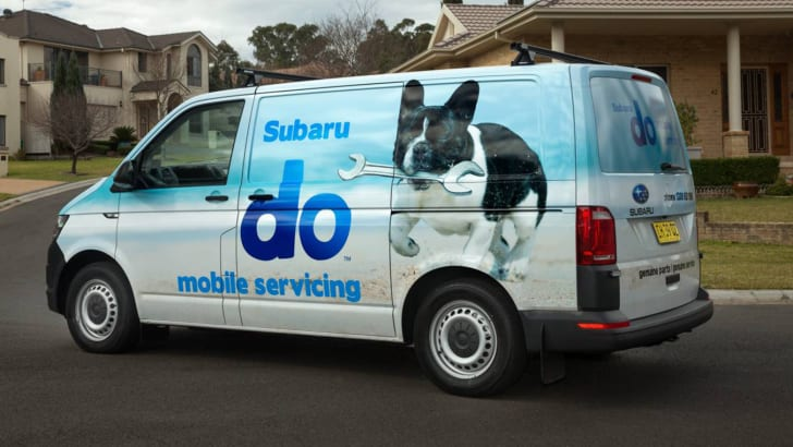 Subaru do mobile service van