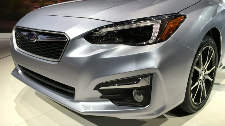 2017 Subaru Impreza hatch and sedan NY auto show 12