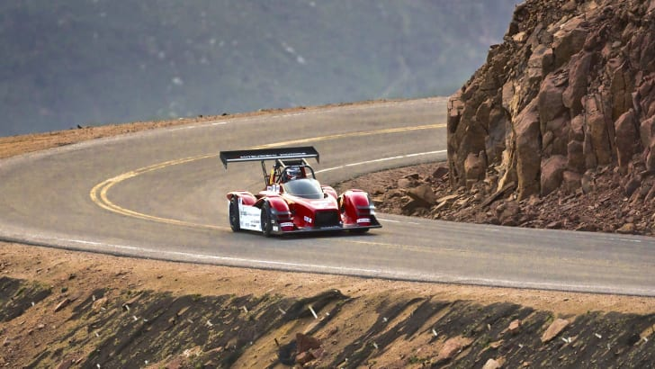 Mitsubishi MiEV Evolution III during 2014 Pikes Peak Int. Hill Climb Practice