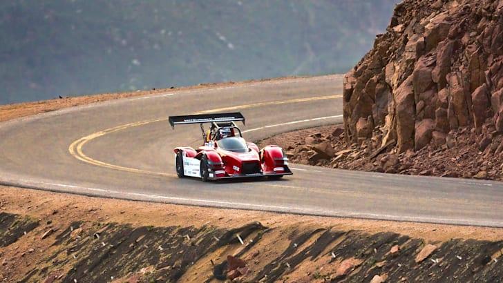 Mitsubishi MiEV Evolution III during 2014 Pikes Peak Int. Hill Climb Practice