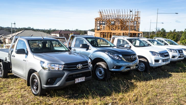 2016 Single-cab ute comparison Isuzu D-Max SX Mazda BT-50 XT Mitsubishi Triton GLX Nissan Navara DX Toyota HiLux Workmate-363