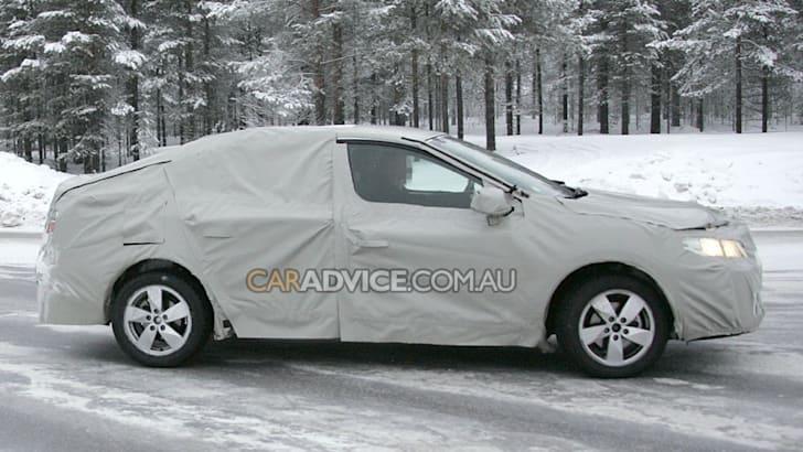 2009 Renault Mégane sedan spied