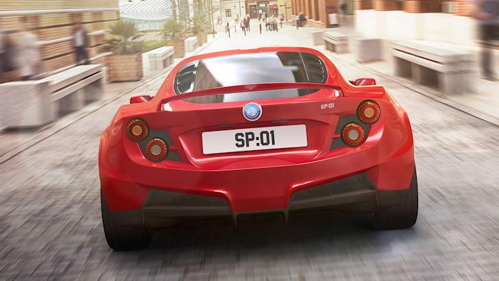 Detroit Electric SP01 - fastback rear