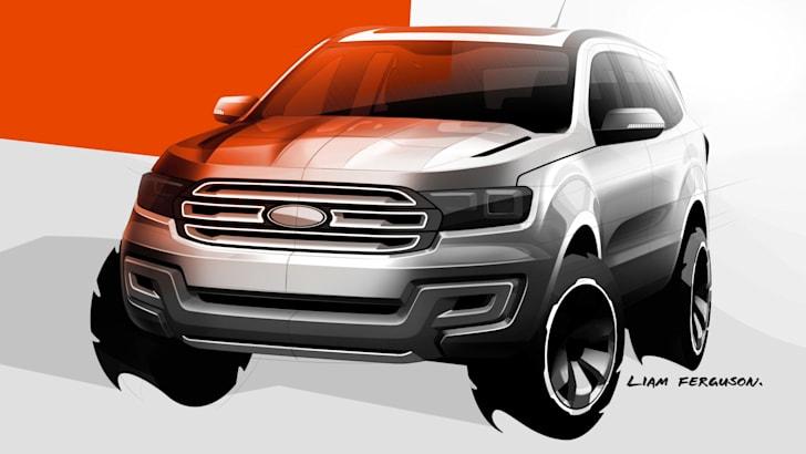 Ford Everest concept sketch
