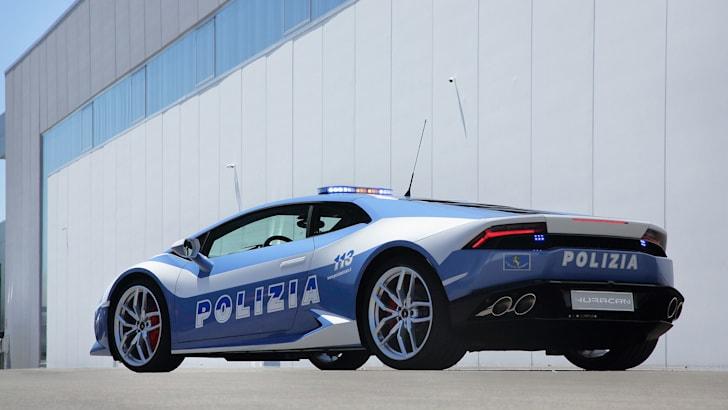 Lamborghini Huracan LP610-4 Polizia rear