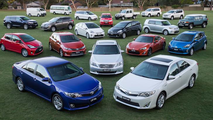 Toyota's market-leading range in Australia