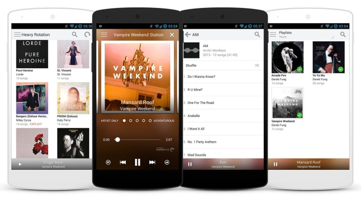 Rdio on Google Nexus 5