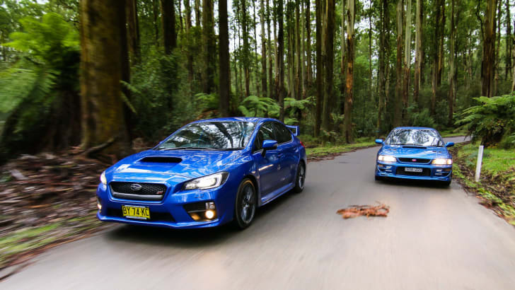 Subaru WRX STI - old v new