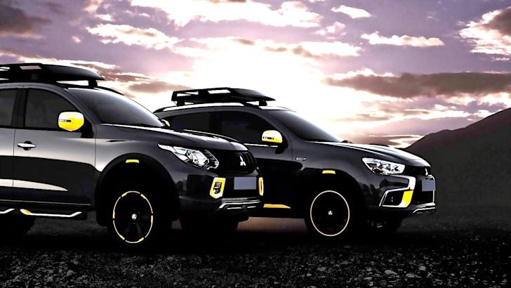 Mitsubishi Triton and ASX concept colour graded_1