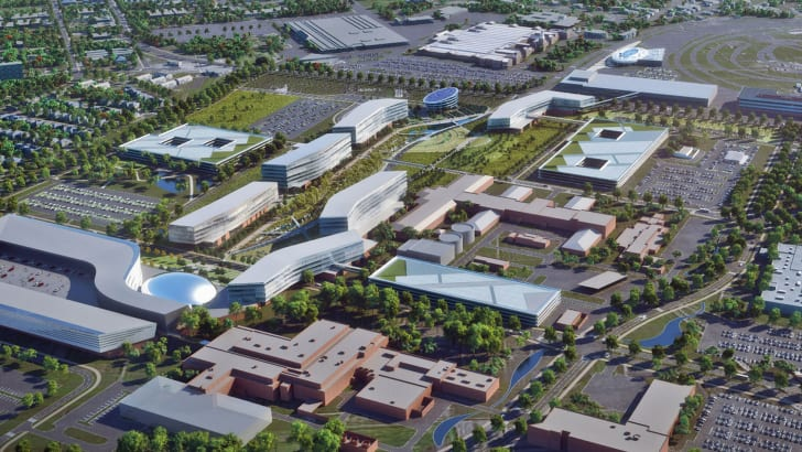 Dearborn Campus Transformation: Product Campus aerial