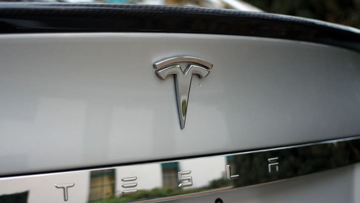 Tesla Model S trunk badge