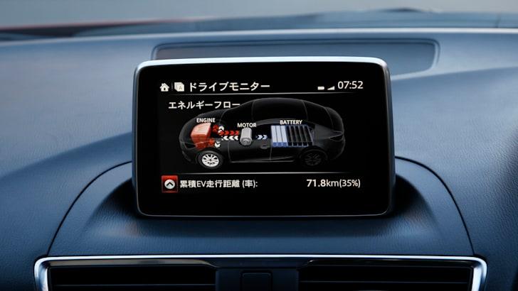 Mazda 3 Hybrid energy monitor