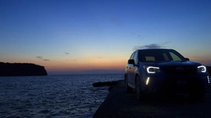 Subaru Forester STI teaser - at sunset
