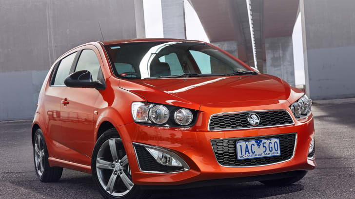 Holden Barina RS orange static