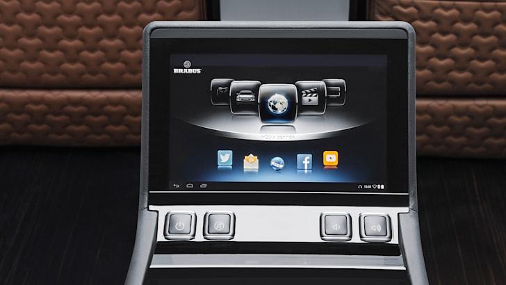 Brabus Business Lounge - entertainment screen