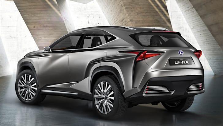 Lexus LF NX concept rear pose