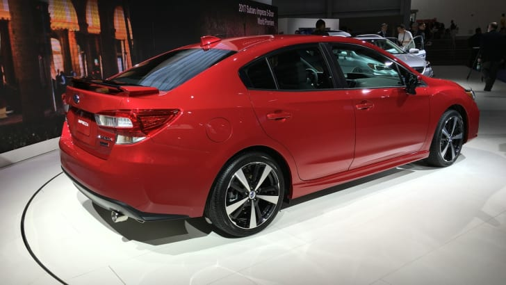 2017 Subaru Impreza hatch and sedan NY auto show 04