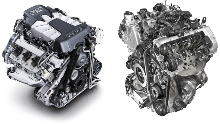 audi and porsche V6 engines