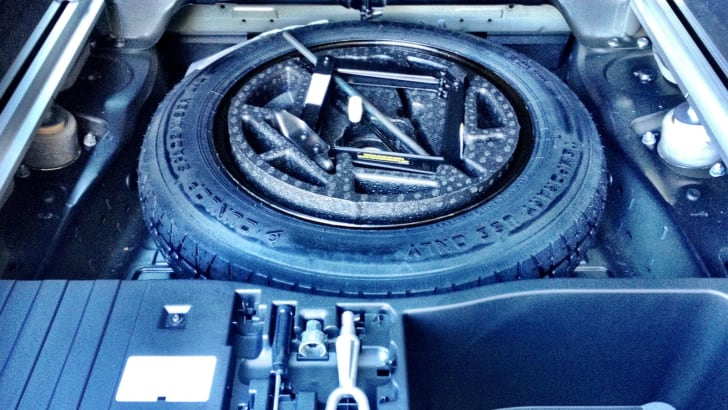 BMW X5 spare tyre