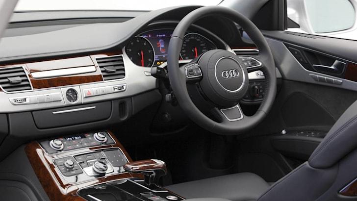 Audi A8 dash angle