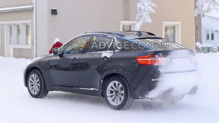 BMW X6 M spied winter testing