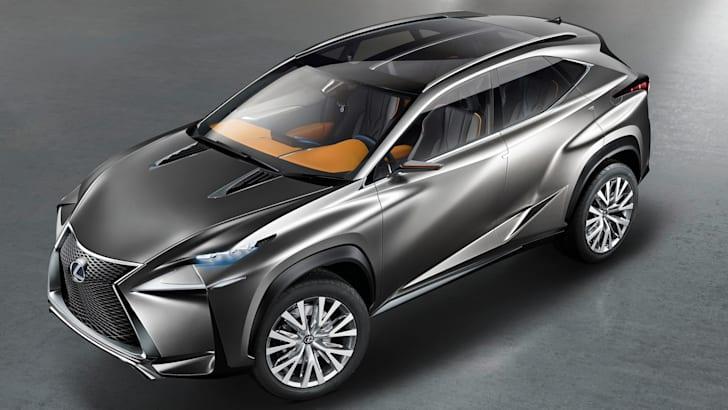 Lexus LF-NX concept above front