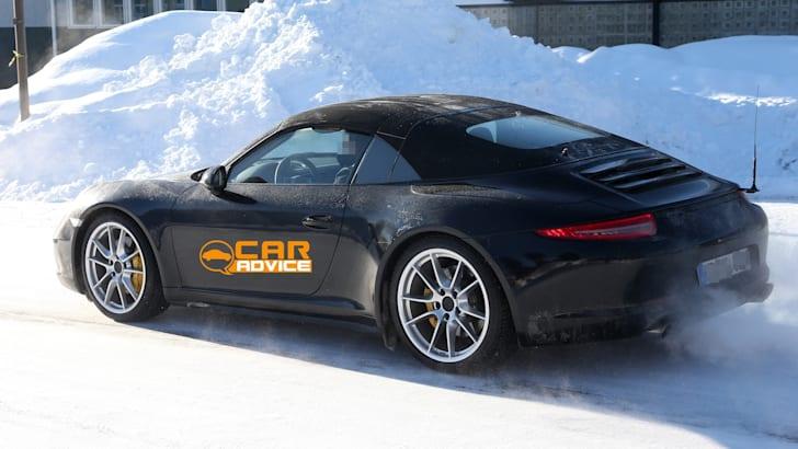 Porsche 911 Targa Spied - 4