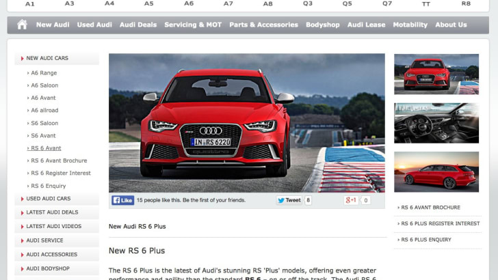 Audi RS6 Plus Avant UK dealer