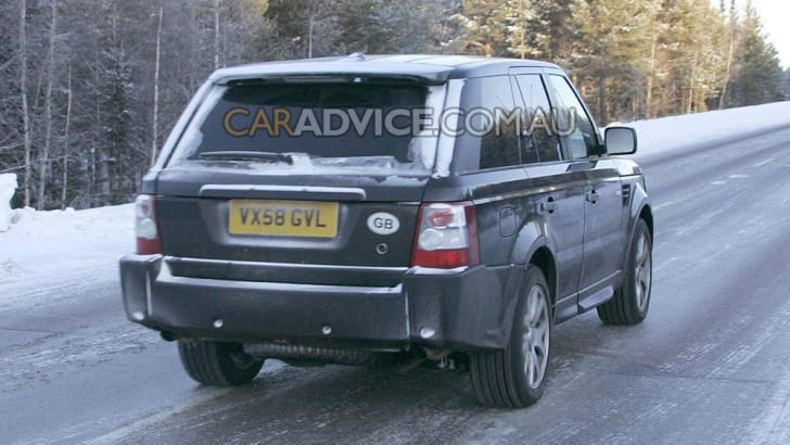 2009 Range Rover Sport face lift spied