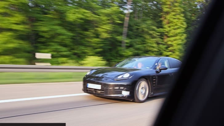 2009 Porsche Panamera autobahn encounter
