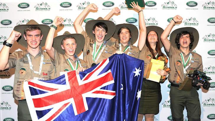 Land Rover 4x4 in Schools 2016 winners Wombat Warriors