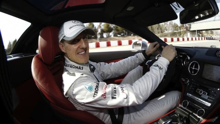 Michael Schumacher - in car