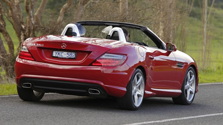 Mercedes-Benz SLK350 rear side