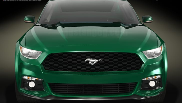 Ford Mustang rendering front