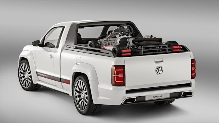 VW Amarok Power Pickup rear tray hatch up