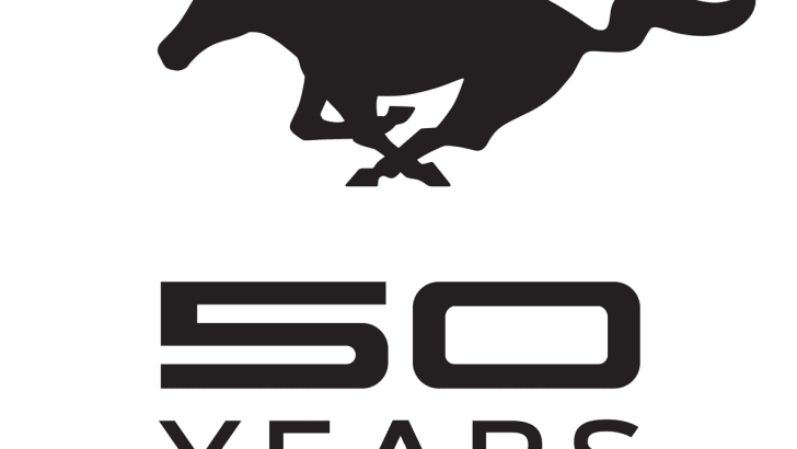 A Custom Logo has Been Created to Celebrate 50 Years of Mustang