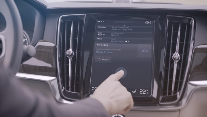 Volvo Cars' Record and Send app