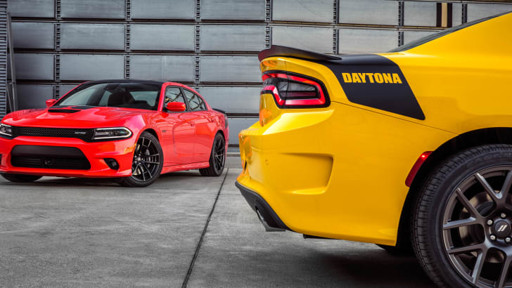 2017 Dodge Charger Daytona 392 (left) and 2017 Dodge Charger Day