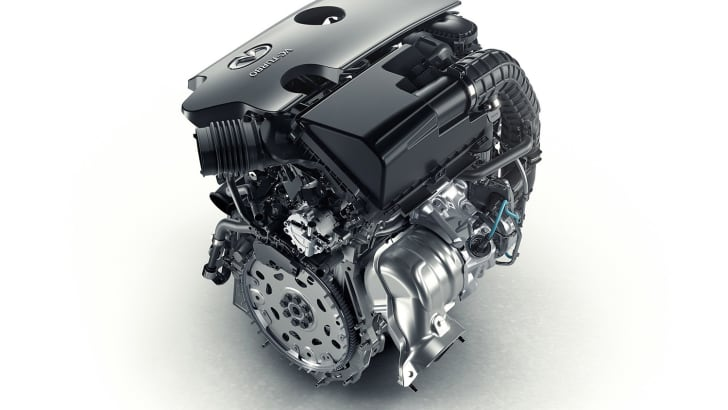 More than 20 years in development, Infiniti's new four-cylinder turbocharged gasoline VC-T engine represents a major breakthrough in internal-combustion powertrain technology. VC-T technology signifies a new chapter in the story of the internal combustion engine – engines are no longer limited by a fixed compression ratio. The ingenuity of VC-T engine technology lies in its ability to transform itself and seamlessly raise or lower the height the pistons reach. As a consequence, the displacement of the engine changes and the compression ratio can vary anywhere between 8:1 (for high performance) and 14:1 (for high efficiency). The sophisticated engine control logic automatically applies the optimum ratio, depending on what the driving situation demands.