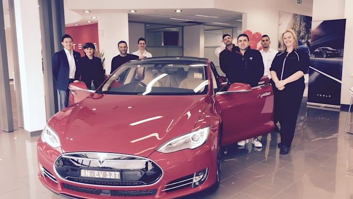 Tesla Model X winner and Anne