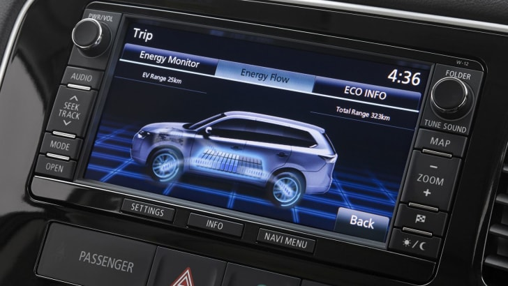 Mitsbushi Outlander PHEV screen1
