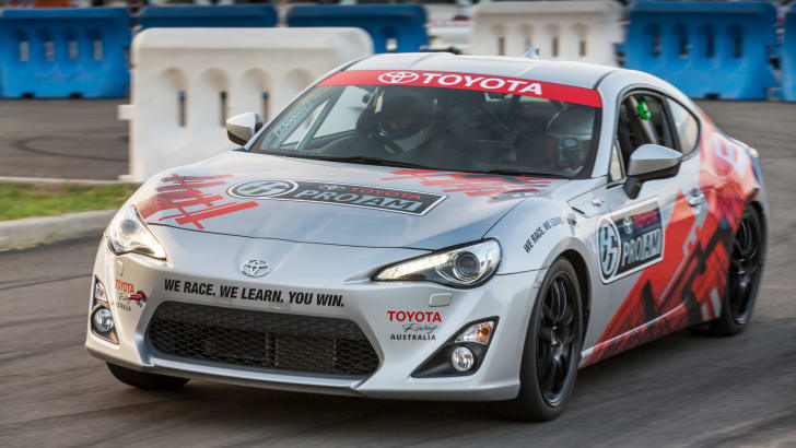 2015 Toyota 86 Pro-Am development car at tarmac rally