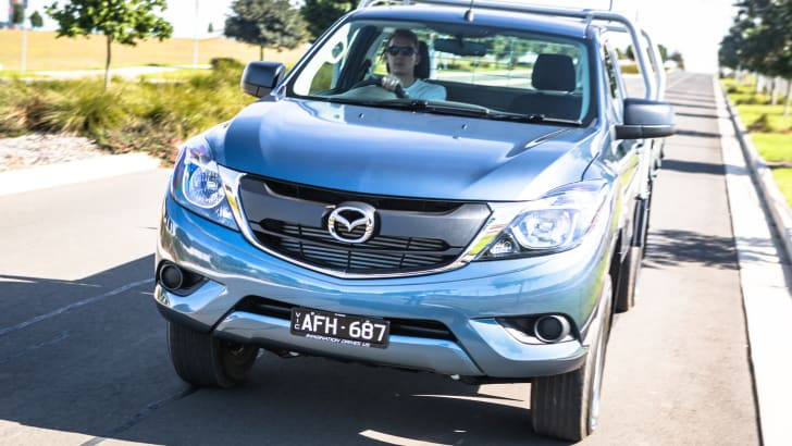 2016 Single-cab ute comparison Isuzu D-Max SX Mazda BT-50 XT Mitsubishi Triton GLX Nissan Navara DX Toyota HiLux Workmate-181