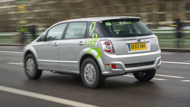 The BYD e6 pure electric vehicles going into operation with Thriev, the county's first zero emission private hire service. Credit: Professional Images/@ProfImages