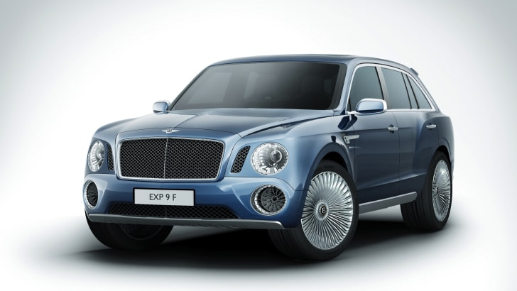 Bentley EXP 9F front side