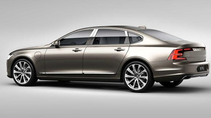 Volvo S90 Excellence exterior rear 3/4