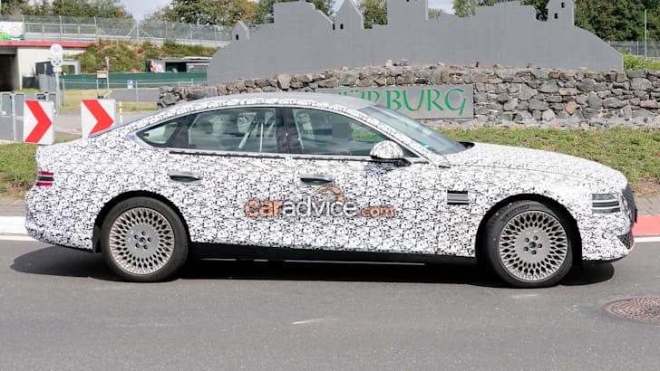 2021年创世纪G80电动汽车和'JW'电动SUV间谍照片