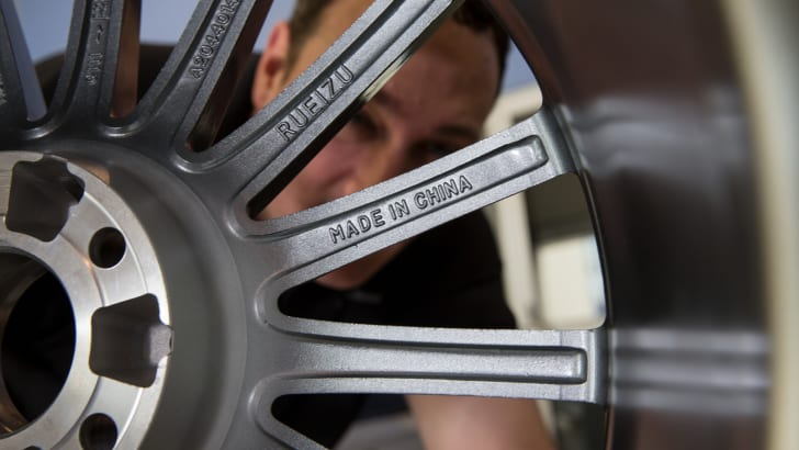 Some fake wheels had Made In China stamped on them.