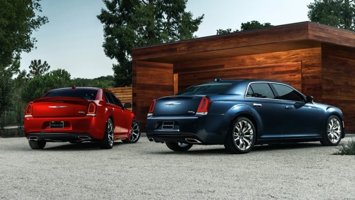 2015 Chrysler 300S (left) and 300C Platinum (right)