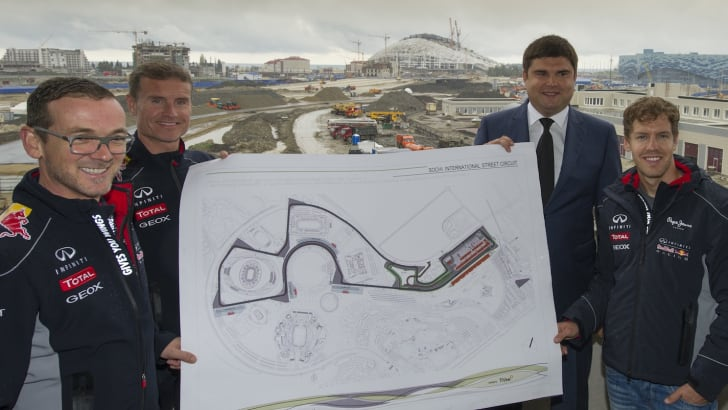 Formula One Triple World Champion Sebastian Vettel becomes first driver to sample new Grand Prix venue in Sochi, Russia